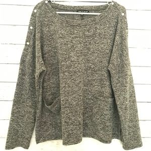 Cable and Gauge Gray popover sweater Size XL